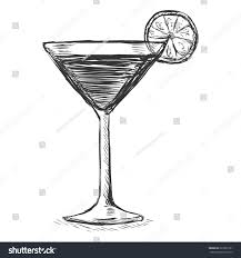 margarita glass cartoon vector sketch cocktail lime stock vector 227829151 shutterstock