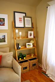 ana white leaning ladder wall bookshelf diy projects wooden