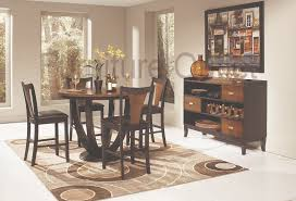 furniture outlet two tone black and cherry finish dining table