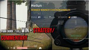 pubg strategy pubg guide 7 kill solo win with commentary strategy