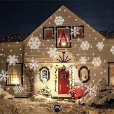 Christmas Light Projector Outdoor by White Snow Led Landscape Projector Light Torchstar