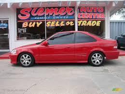 Honda Civic 2000 Specs 2000 Milano Red Honda Civic Si Coupe 11352549 Gtcarlot Com