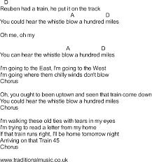 Maps Lyrics Songs With Chords Reubens Train