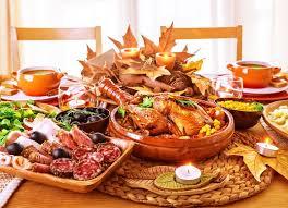 festive thanksgiving day dinner celebration at home