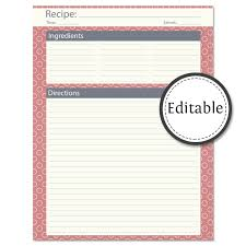recipe template download sogol co