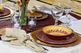 Formal Dinner Place Setting Place Settings For A Formal Dinner Party Stock Photo Picture And