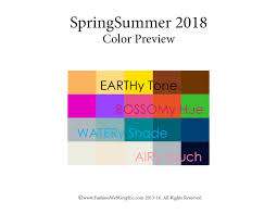 watery color spring summer 2018 trend forecasting is a trend color guide that