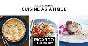 la cuisine asiatique cuisine asiatique menus à la carte