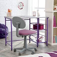 amazon com study zone ii desk u0026 chair purple kitchen u0026 dining