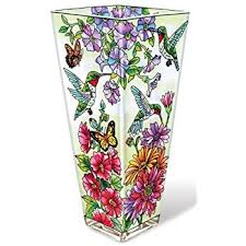 Design For Vase Painting Amazon Com Amia Glass Vase With A Colorful Hand Painted Design