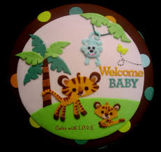 jungle baby shower cakes ideas decorating of party