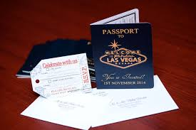 wedding invitations las vegas australian passport wedding invitation to las vegas empire invites