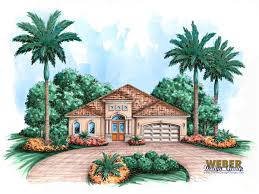 Narrow Home Floor Plans San Juan House Plan Weber Design Group Naples Fl