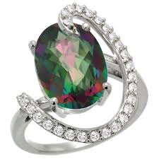 topaz engagement ring mystic topaz engagement rings review