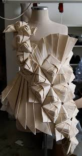 Advanced Draping Techniques Origami Fashion Design With An Asymmetric Pleated Structure