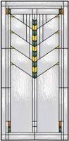 Home Windows Glass Design Prairie Stained Glass Window In A Geometric Design In Green