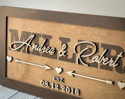 personalized wooden wedding signs established sign etsy