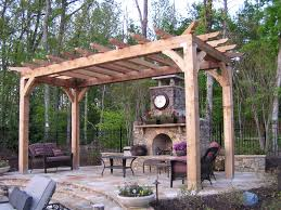 decorating wonderful home exterior with exciting pergola lowes