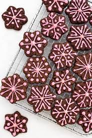 snowflake cookies pink peppermint chocolate snowflake cookies bake give