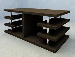 Table With Shelves Revitcity Com Object Wood Coffee Table With Shelves