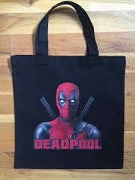 personalized party favor bags deadpool trick or treat bag deadpool party favor bag