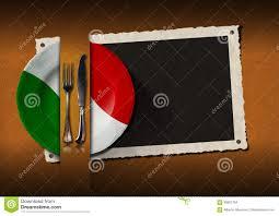 Flags Restaurant Menu Restaurant Italy Menu With Photo Frame Stock Illustration Image