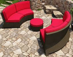cabo wicker curved sec 3 piece sofa set