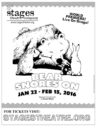 bear snores on stages theatre company
