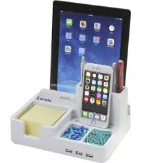 cell phone holders and charging stations organize it