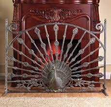 peacock fireplace screen dact us