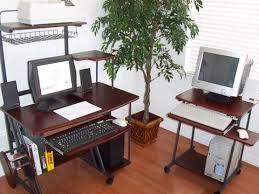 desktop computer desk sts5806 24 mini computer and laptop desk table with wheels