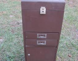 Vintage Metal File Cabinet Vintage Filex Steel Products Metal Filing Cabinet Two Letter