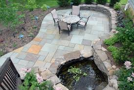 Rock Patio Design Backyard Patio Ideas Flagstone Lesmurs Info