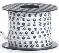 paw print ribbon paw print dog cat curling ribbon 200 yards health