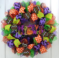 15 spooky deco mesh halloween wreaths to decorate your door just