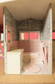 Pink Tile Bathroom by A Vintage Pink Bathroom For The Dollhouse Including World Of