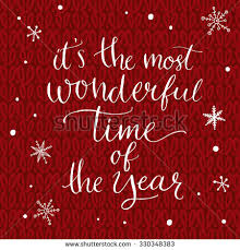 most wonderful time year inspirational quote stock vector