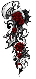 Tribal Tattoos With Roses - tribal by patrike on deviantart beautiful of