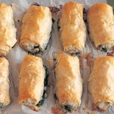 filo rolls with arugula spinach and feta williams sonoma