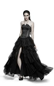 party elastic high waist flowers mesh prom gothic skirt