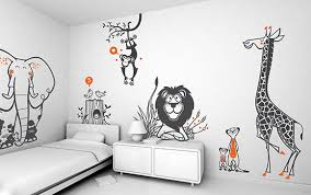 stickers garcon chambre stickers chambre bébé savane stickers girafe stickers elephant