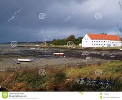 big farmhouse mansion big farmhouse by the sea funen denmark stock photo image