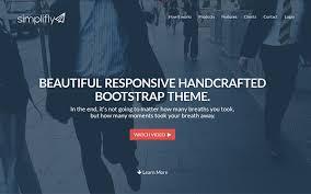 bootstrap themes free parallax templates responsive bootstrap3 app website simplify wordpress