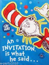 dr seuss birthday invitations dr seuss birthday party ebay