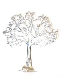 silver tree of tree ceremony jewelry stand