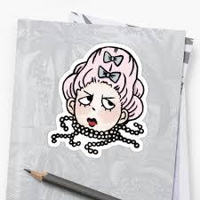 french revolution sticker set marie antoinette head
