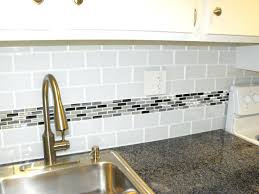 kitchen backsplash accent tile white subway tile with glass accent