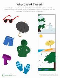 Kindergarten Weather Worksheets Weather Seasons Worksheets And Printables Education Com