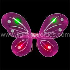 Open Light Up Sign Light Up Butterfly Wings Fuchsia Blinking Leds