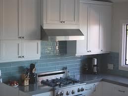 Cool BlueGray Kitchen A Backsplash Of Bluegray Metro Subway Tile - Blue tile backsplash kitchen